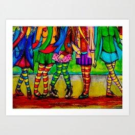 Bean poles Art Print