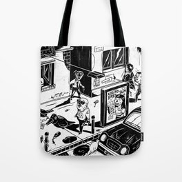 Pipien Molestus in the city Tote Bag