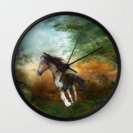 Beautiful brown horse Wall Clock