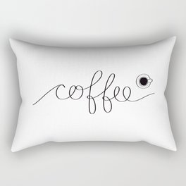 Black Coffee Rectangular Pillow