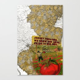 Jersey Tomatoes, We Grow our Pride Canvas Print