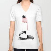 ass V-neck T-shirts featuring DAT' ASS by katttttak