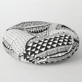 Wavy Geometric Patterns Floor Pillow