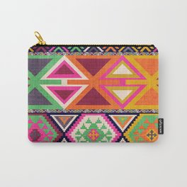 Aztec Artisan Tribal Bright Carry-All Pouch