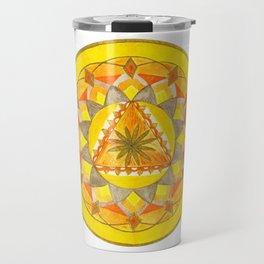 Golden Hour Mandala Travel Mug
