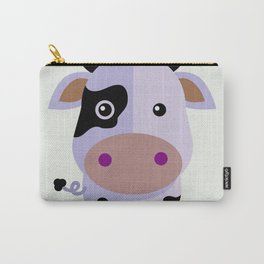 Purple cow by Leslie harlo Carry-All Pouch