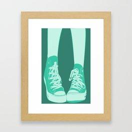 Awk Chucks Blue  Framed Art Print