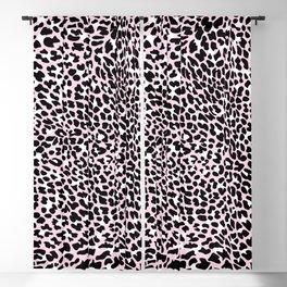 PINK LEOPARD PANTHER ANIMAL SKIN PINK  Blackout Curtain