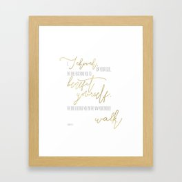 Isaiah 48:17 - Goldie Framed Art Print