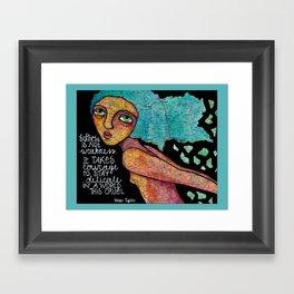 Softness is not weakness Framed Art Print