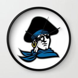 Pirate Tricorn Hat Neckerchief Retro Wall Clock
