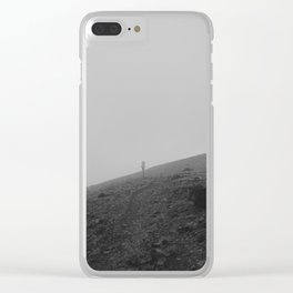 Yellowstone Trail Fog Clear iPhone Case
