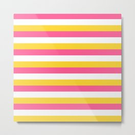 Simple striped design with beautiful bright summer colors Metal Print