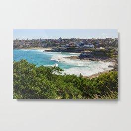 Sydney Coastline Metal Print