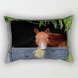 Home is where the Horse is Rectangular Pillow