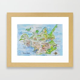 Map of the Faerie Realm Framed Art Print