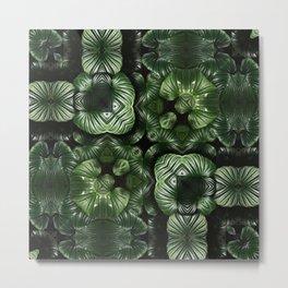 Green leaves pattern Metal Print