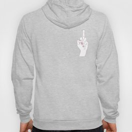 Hand showing the middle finger pink Hoody