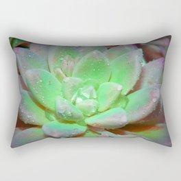 Green Floating Lotus Rectangular Pillow