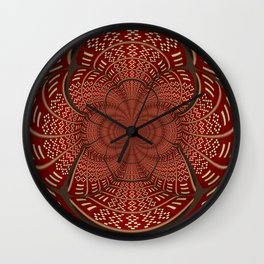 Woven Indian Design Mandala Wall Clock