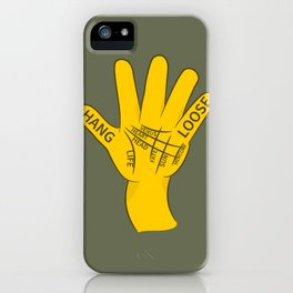 Palmistry Hang Loose Shaka Sign iPhone Case