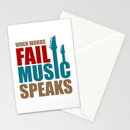 Music Quote Stationery Cards