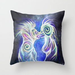 Alien Kiss Throw Pillow