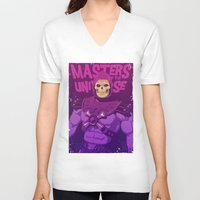 skeletor V-neck T-shirts featuring Masters of the Universe - Skeletor by Mike Wrobel
