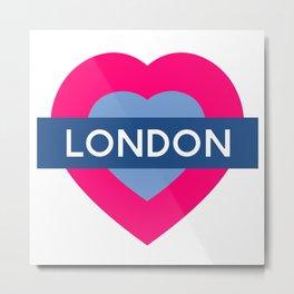 London Heart Metal Print