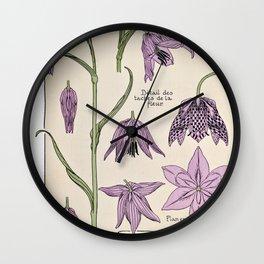 Maurice Verneuil - Fritillaire - botanical poster Wall Clock