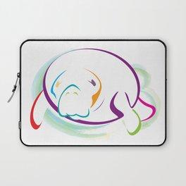 Rainbow Manatee Laptop Sleeve