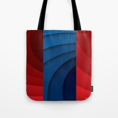 Red and blue color gradient Tote Bag