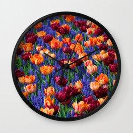 Flowerbed Medley Wall Clock
