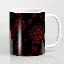 Anti Possession Pattern Red Glow Coffee Mug