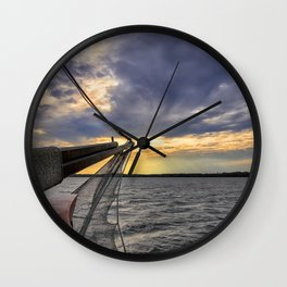 Sunset off the Bow Wall Clock