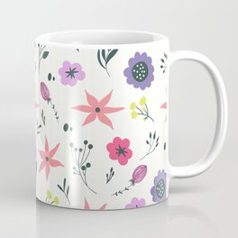 Abstract coral purple violet vector floral pattern Coffee Mug