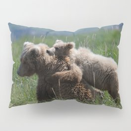 Alaska Grizzly Mother And A Cub In Katmai National Park #Society6 Pillow Sham