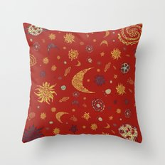 Christmas Space Pattern Throw Pillow