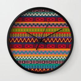African pattern No4 Wall Clock