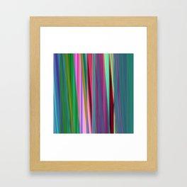 fall stripes Framed Art Print
