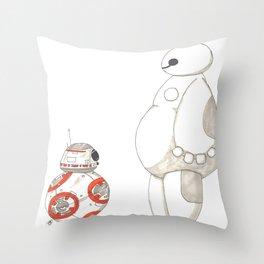 BB8 Meets Baymax Throw Pillow