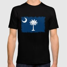 Flag of South Carolina - High Quality image Mens Fitted Tee Black MEDIUM