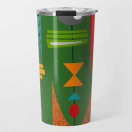 Mid-Century Modern Green Tiki Tok Travel Mug