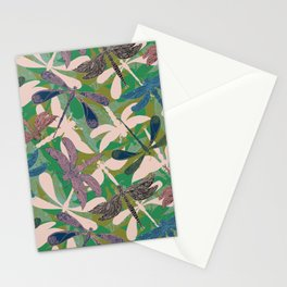 Dancing Dragonflies Stationery Cards