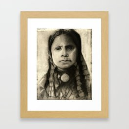 Portrait of Standing Holy Framed Art Print