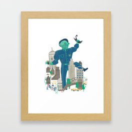 MY FATHER... IS A COP Framed Art Print