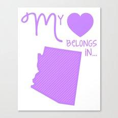 My Heart Belongs in Arizona Canvas Print