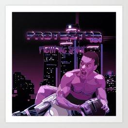 Van Damme vs. Robocop fighting spirit Art Print