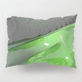 Waving green mathematical surface Pillow Sham