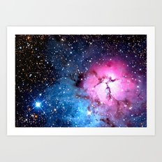 Rose Nebula Art Print